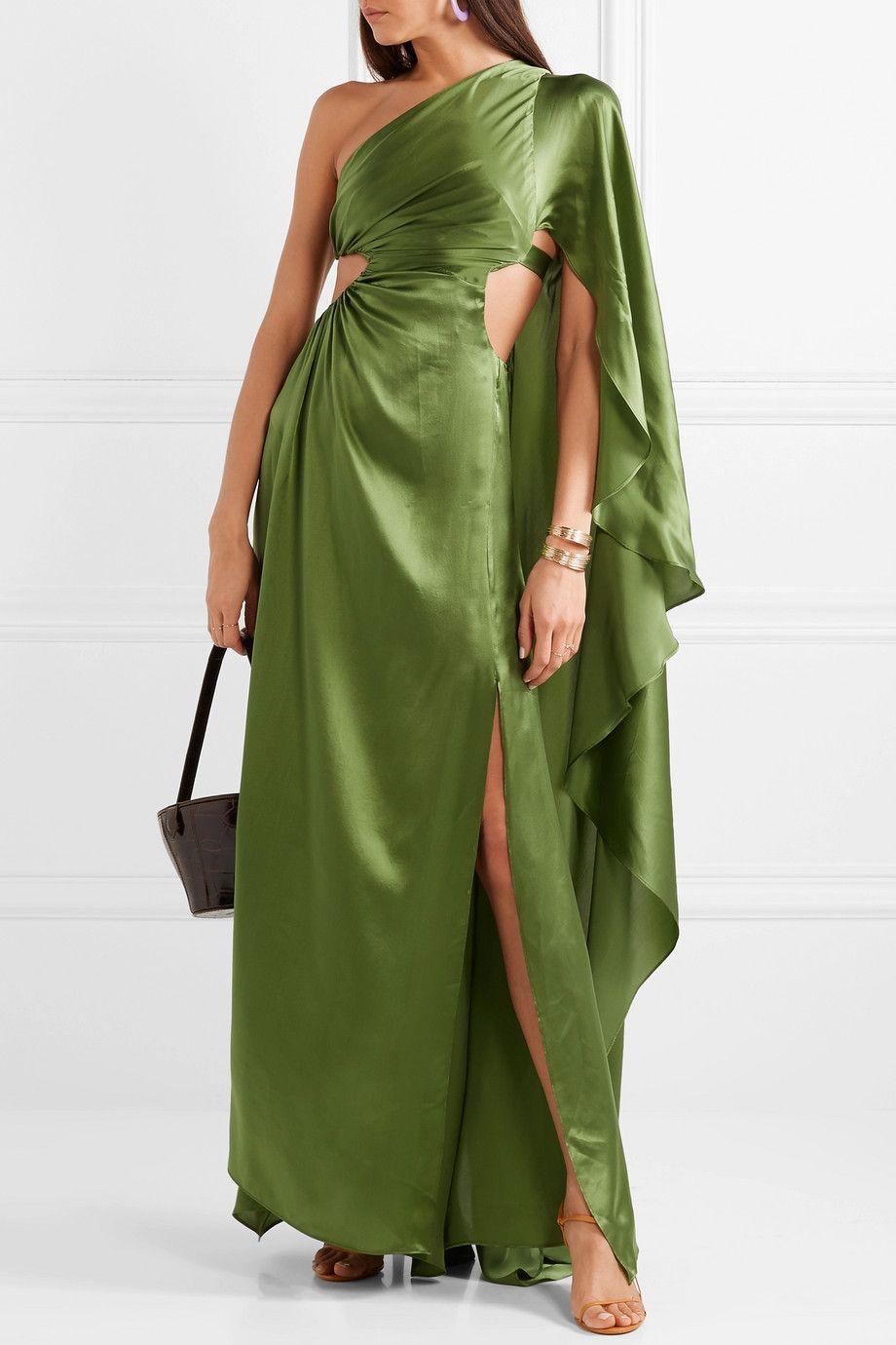 c93855433b3 Cult Gaia - Cosette one-shoulder cutout silk-satin gown in 2019 ...