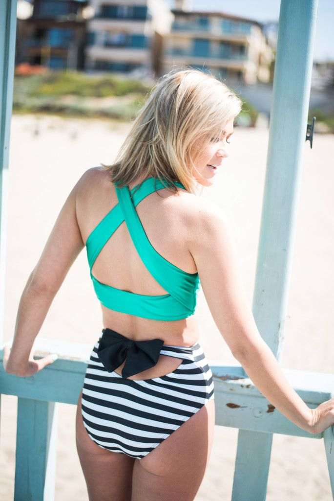 Wild One Forever - Albion Fit Swim Game Changer Top and Striped Bow ...