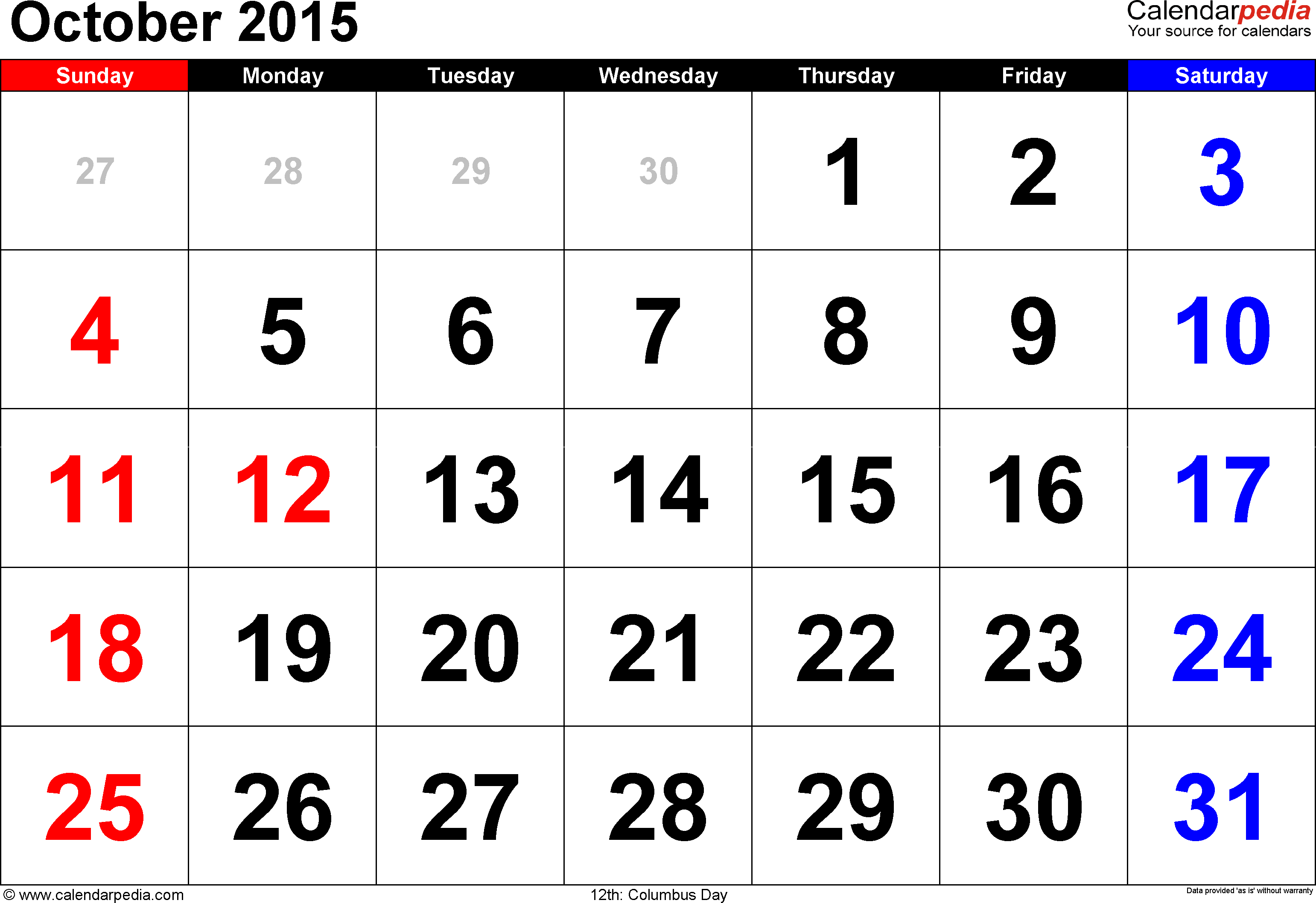australian calendars 2015
