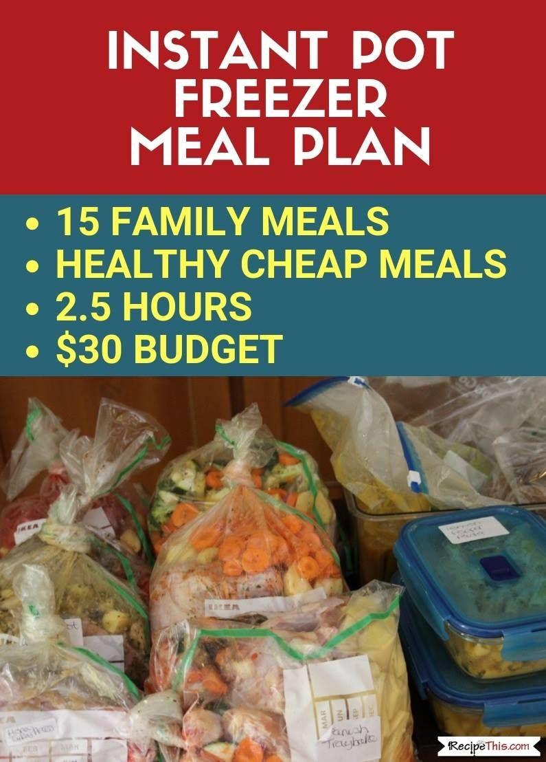 Instant Pot Cheap Freezer Meals #crockpotmeals