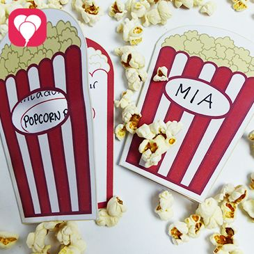 kino geburtstag mit popcorn einladung kindergeburtstag ideen geburtstag einladung. Black Bedroom Furniture Sets. Home Design Ideas