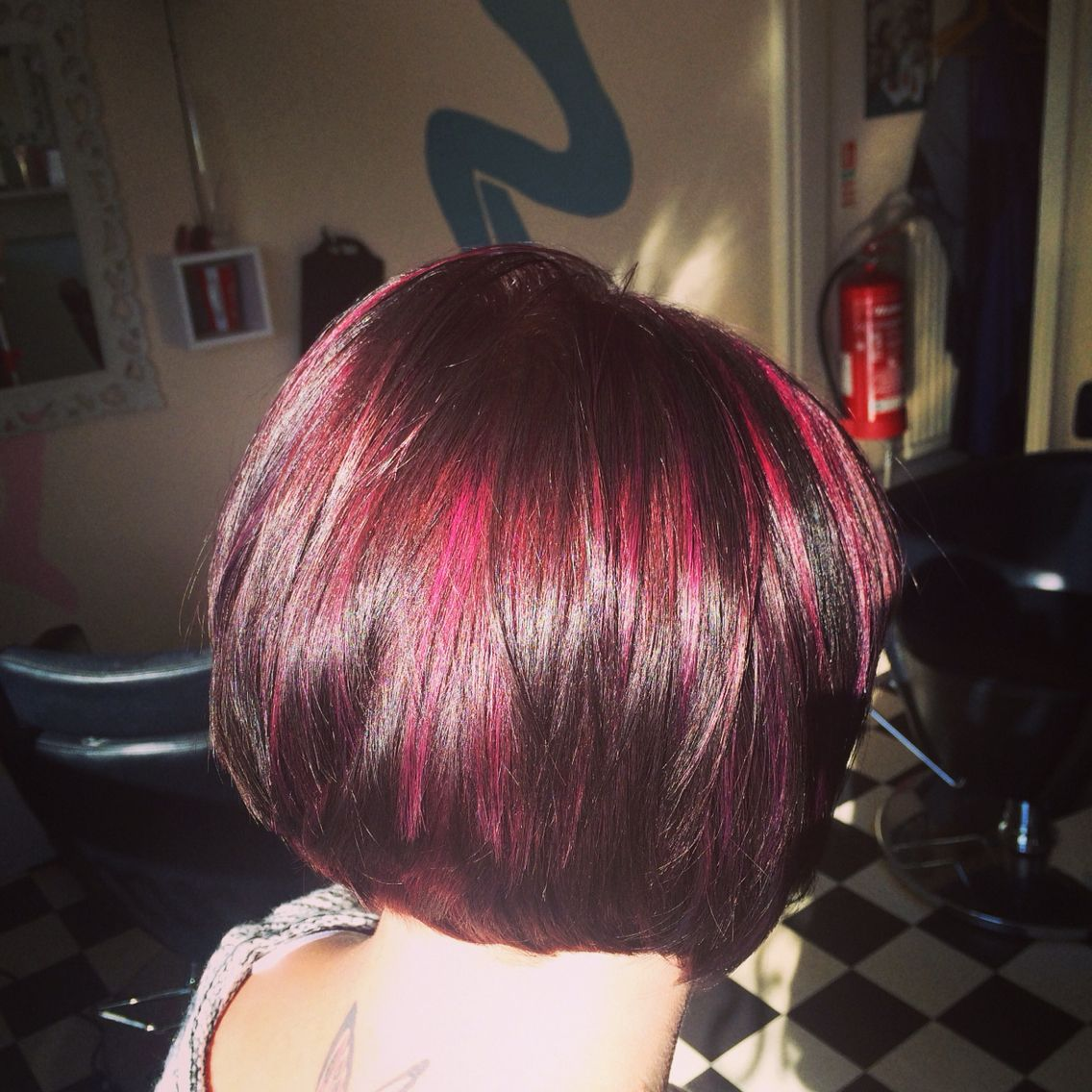 Purple hair deep violet base and mixed violetred slices super