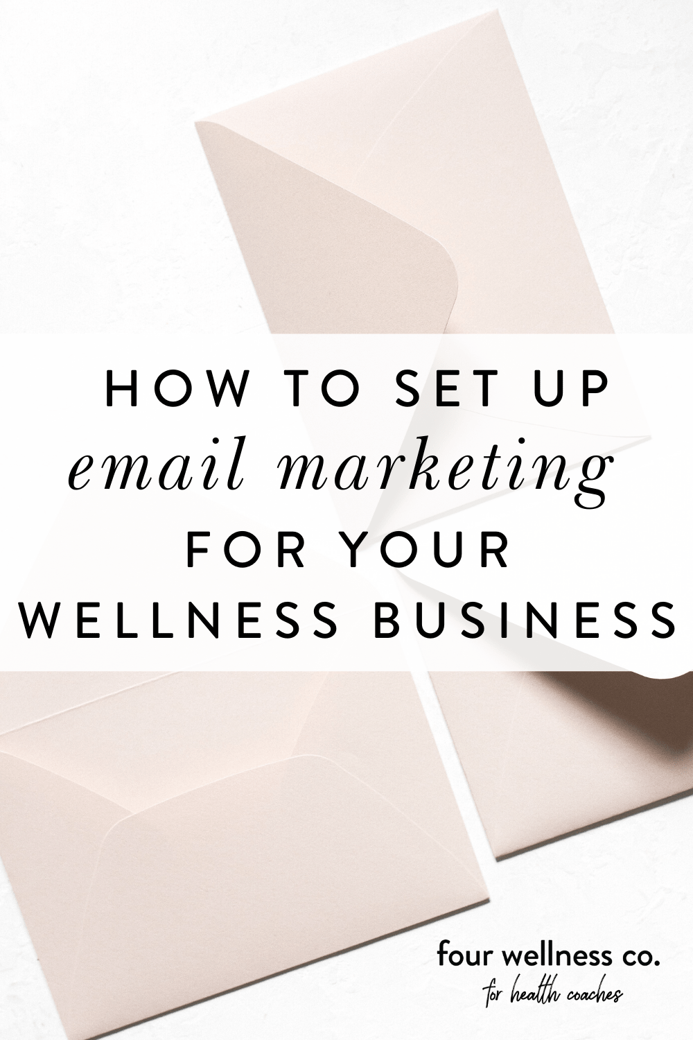 How to Set Up Email Marketing for Your Wellness Business // Four Wellness Co.