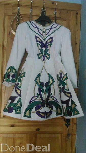 White gabardine costume