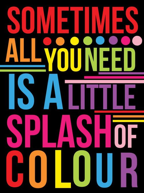 Sometimes all you need is a little splash of color! (With