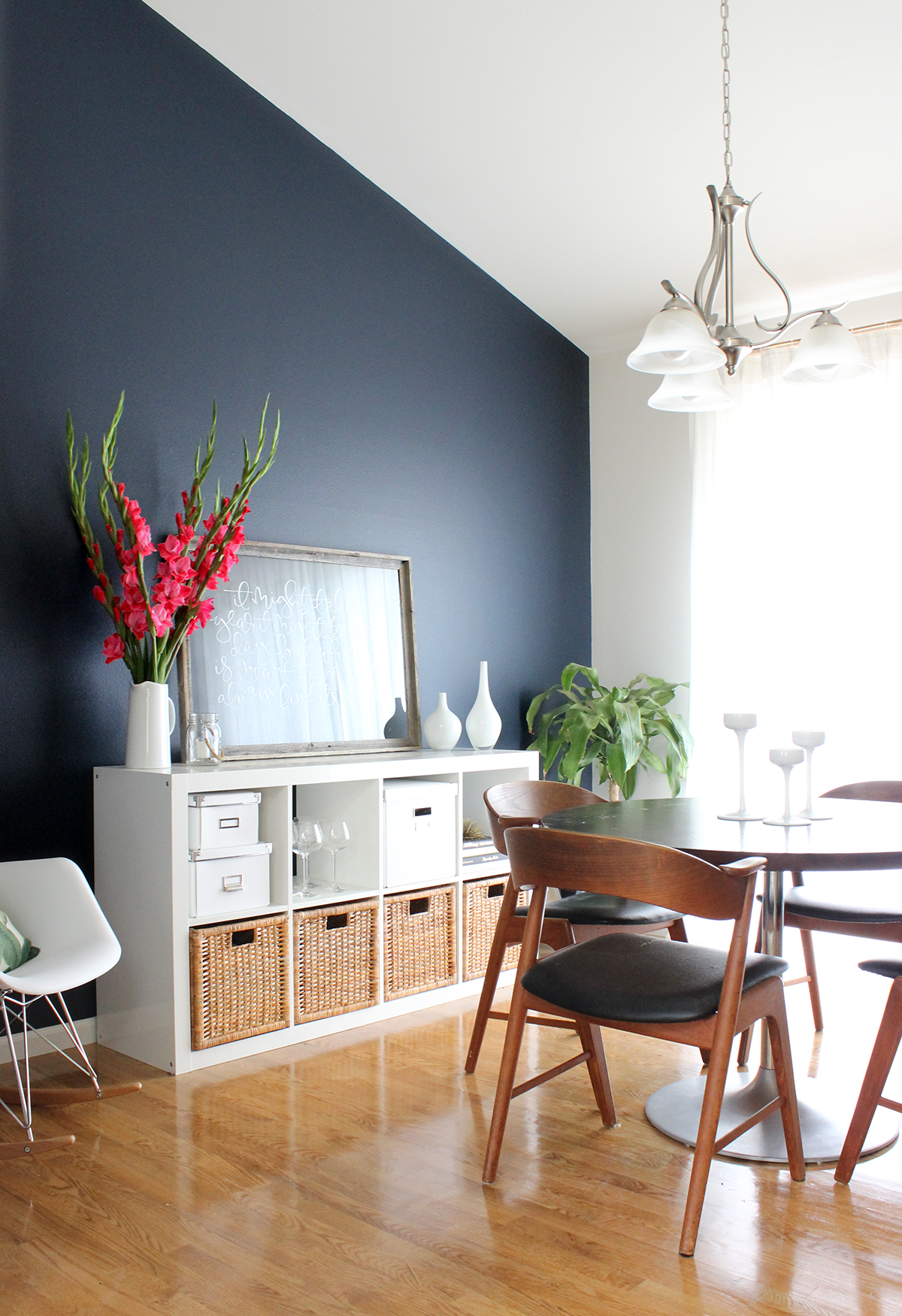 Dining Room Makeover Dining Room Makeover Navy Room And Navy Accent Walls