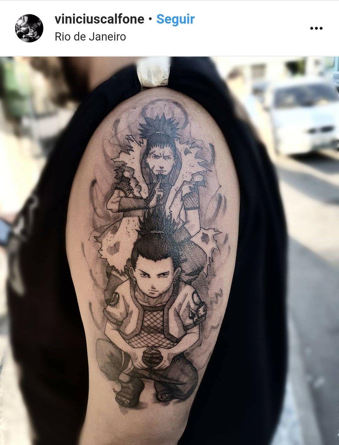 Shikaku Shikamaru Nara Sasuke Uchiha Naruto Tattoo Tattoos