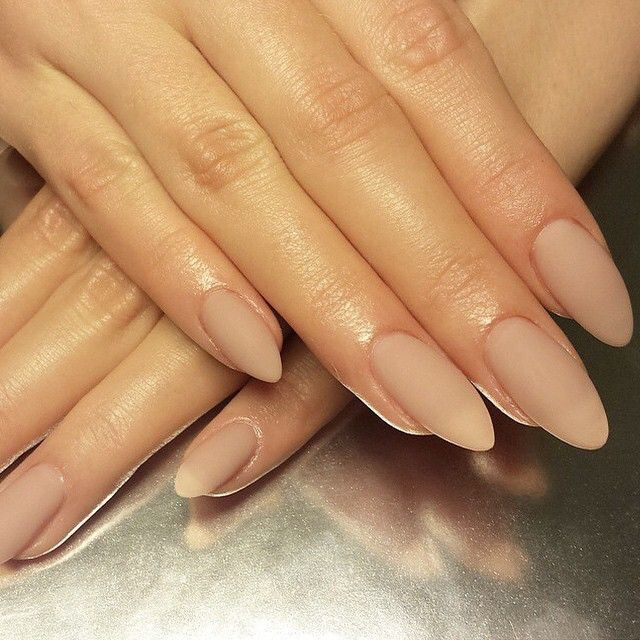 Matte Light Brown Almond Acrylic Nails Almond Nails Designs Trendy Nails