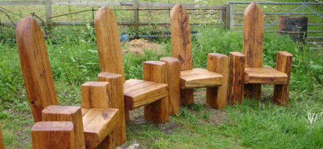 FURNITURE using railway sleepers | Repurpose railroad ties ...