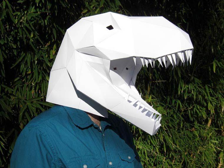 chercher 100% d'origine 100% authentique Papercraft Mask – Des masques en papier DIY de dinosaures et ...