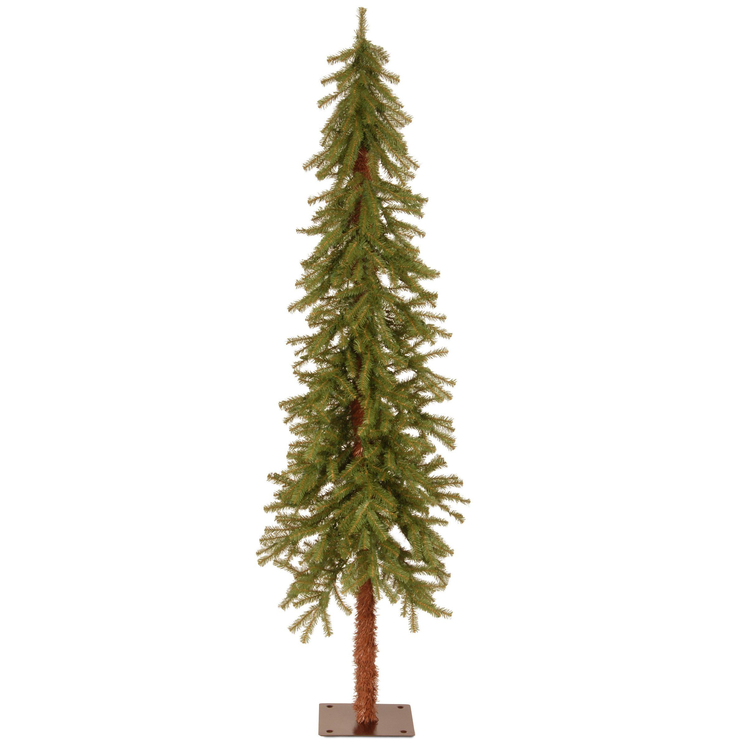 51c6ca31ff3 Discover ideas about Alpine Green. January 2019. The Vickerman Natural  Alpine Slim Pre-Lit Christmas Tree ...