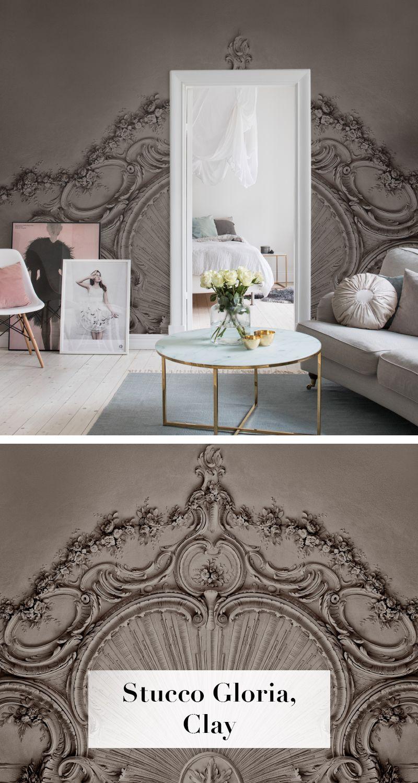 Stucco Gloria, Clay | Wohnung dekoration, Wandgestaltung und ...