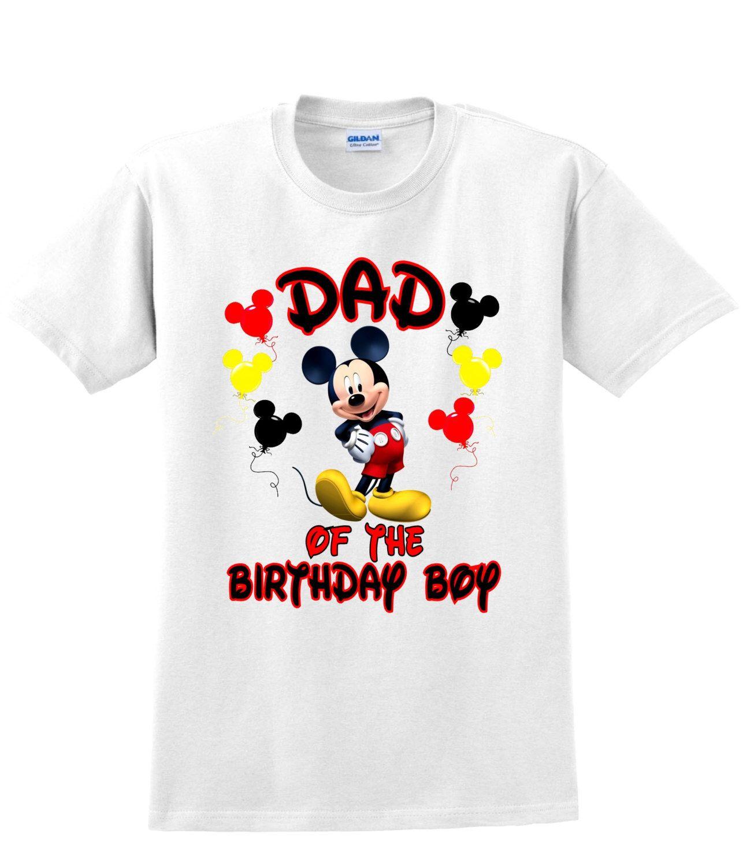 Mickey Mouse Birthday Boy's Dad Shirt Dad of Birthday