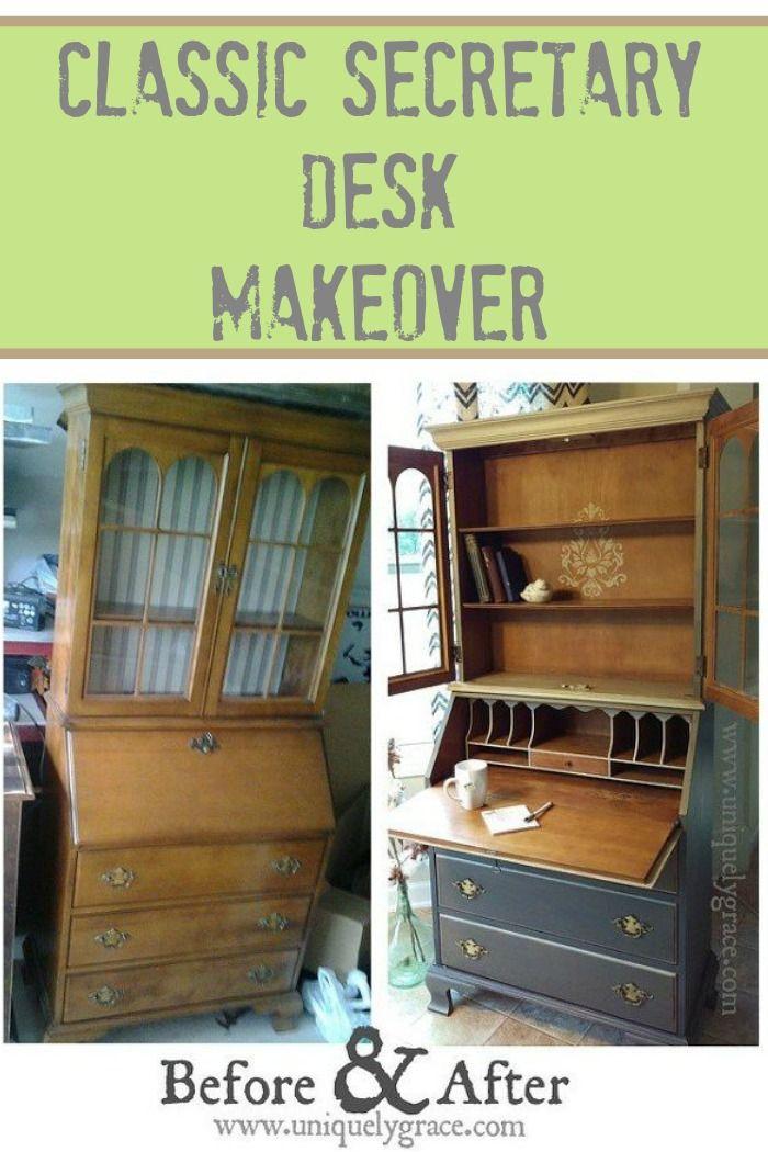 Jasper Cabinets Secretary Desk Furniture Makeover