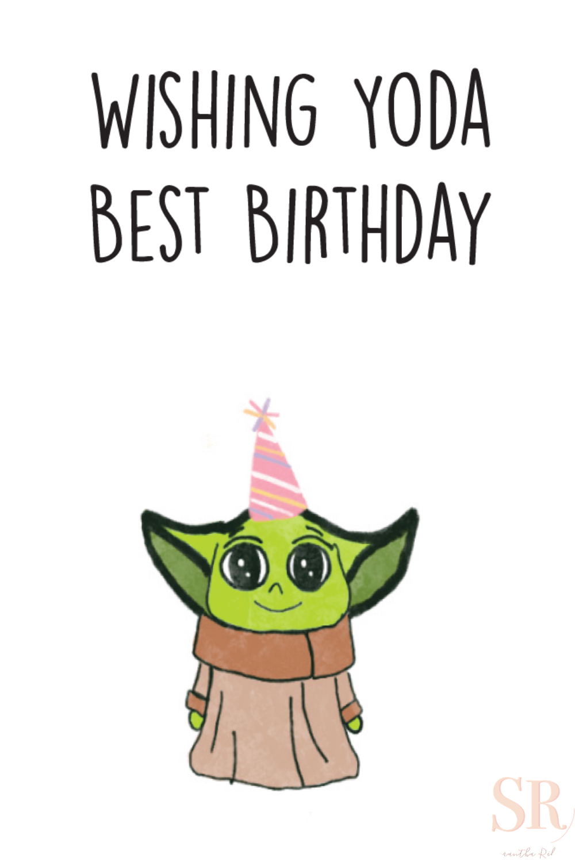 Baby Yoda Birthday Card Funny Happy Birthday Card Printable Etsy Happy Birthday Cards Printable Happy Birthday Card Funny Funny Birthday Cards