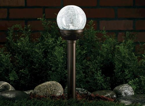 Solar mini crackle ball path light at menards