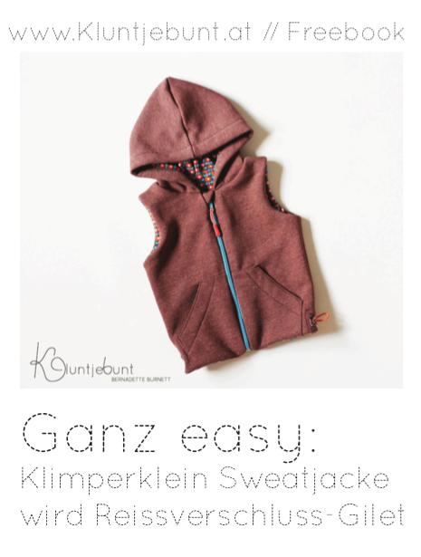 Reissverschluss-Gilet Freebook | Sewing - Patterns & Projects ...