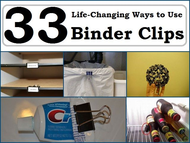 33 life changing ways to use binder clips gadgets pinterest binder clips life changing. Black Bedroom Furniture Sets. Home Design Ideas