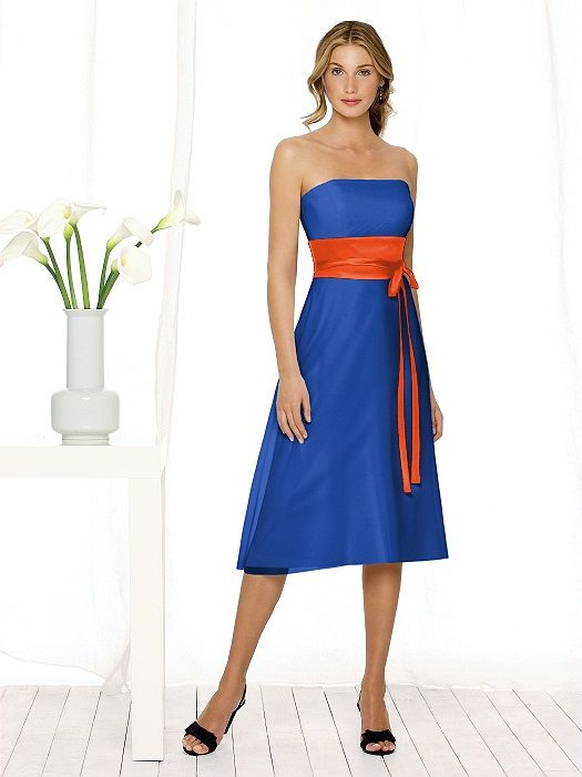 d01ee6b3429 For my blue and orange wedding...the bridesmaids dresses  p  Amanda Snelson  Krzeminsk
