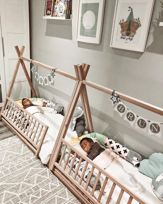 Tipi Bett. Kinder Wohlfühloase zum Träumen