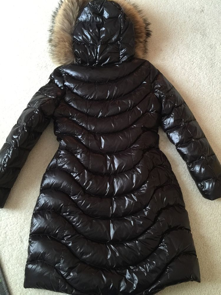 NWOT Authentic Moncler Aphia Real Fur Hood Long Down Coat 2 black | Clothing, Shoes & Accessories, Women's Clothing, Coats & Jackets | eBay!