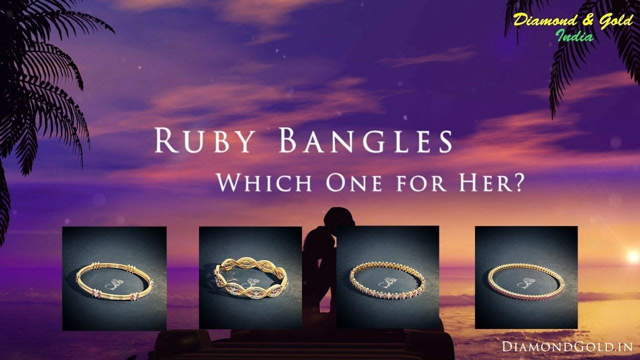 Ruby bangles designs with price emi available ruby