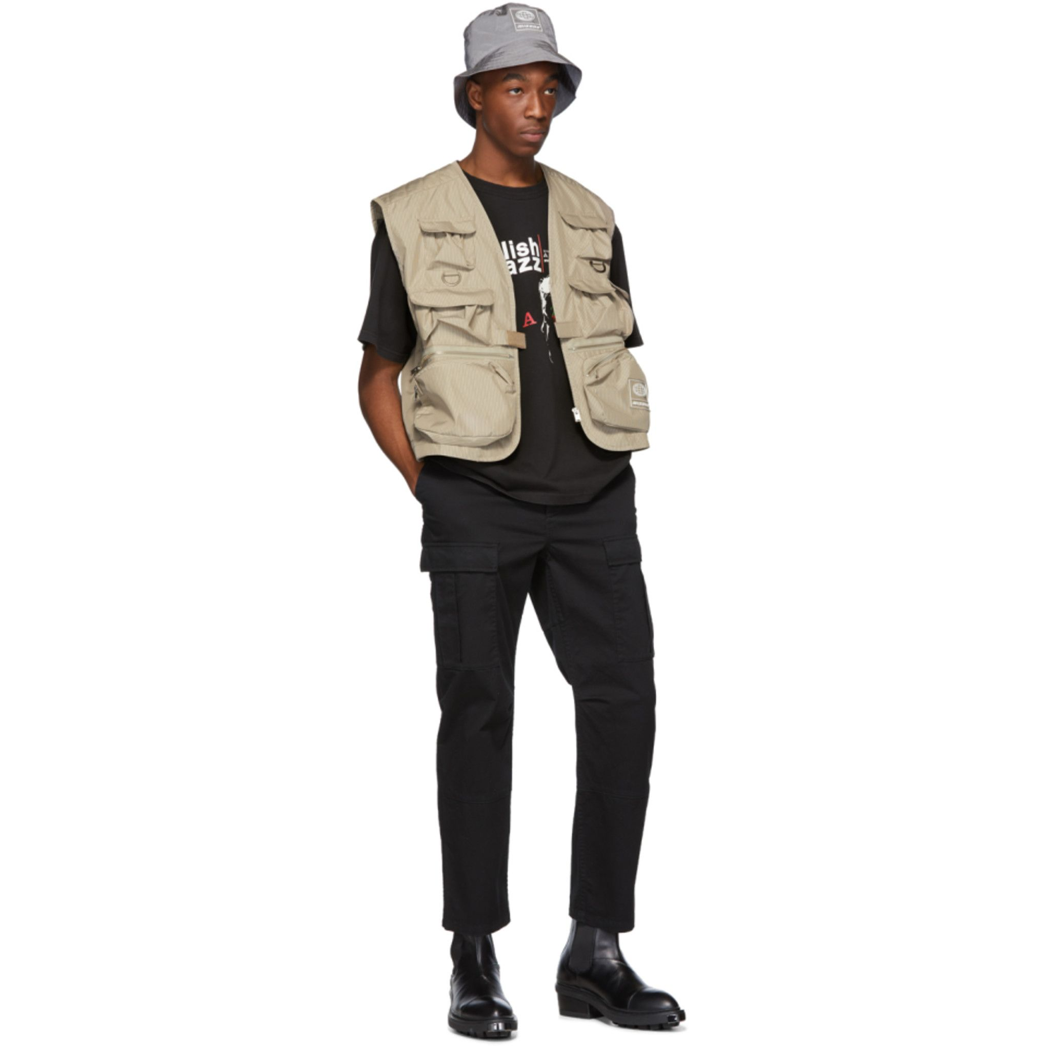 MISBHV: Beige Fisherman Vest | SSENSE | Vest outfits ...