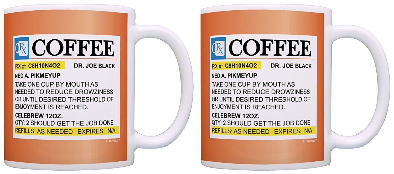 Nurse gifts prescription coffee mug rx pill bottle 2 pack