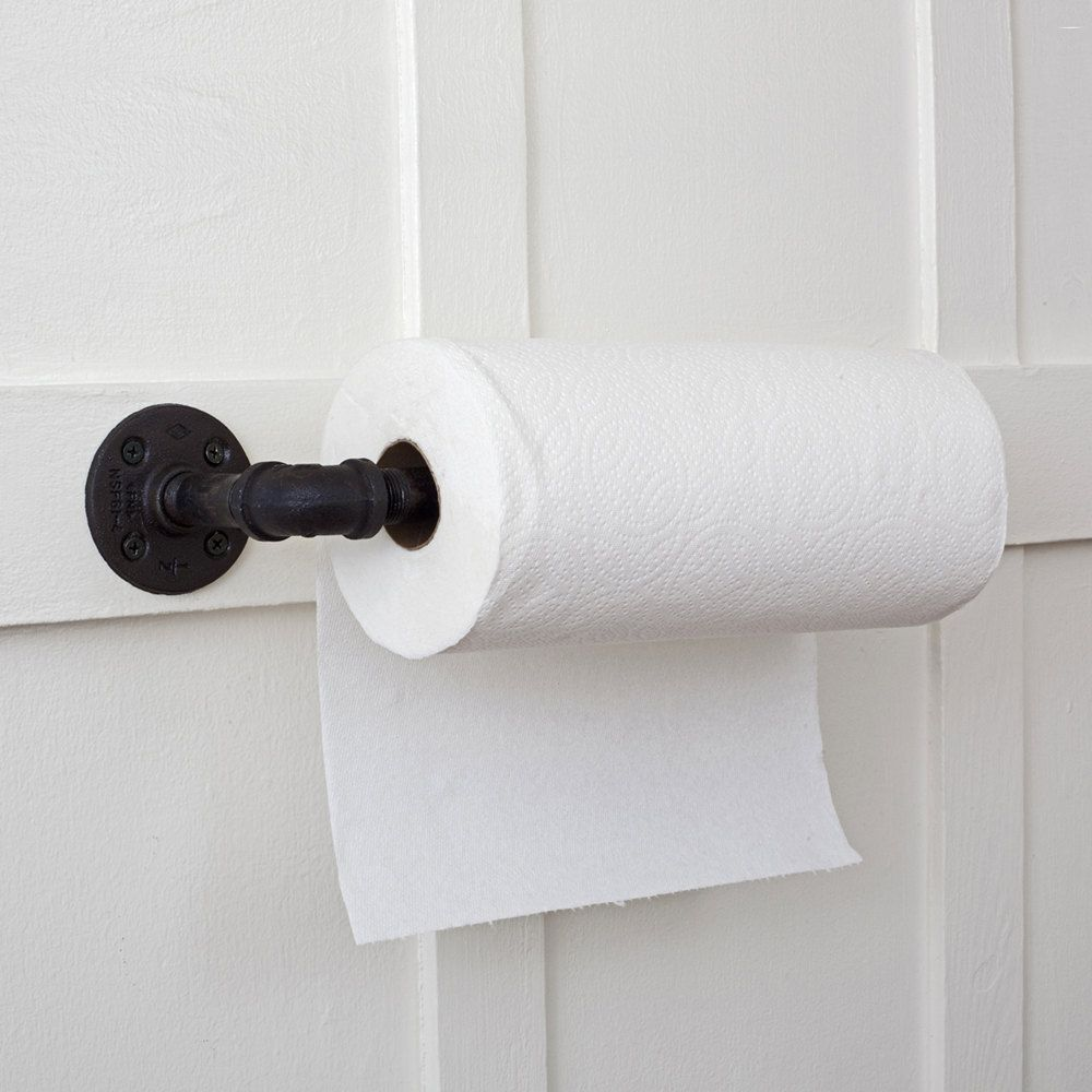 Black Pipe Paper Towel Holder These Would Be Great For