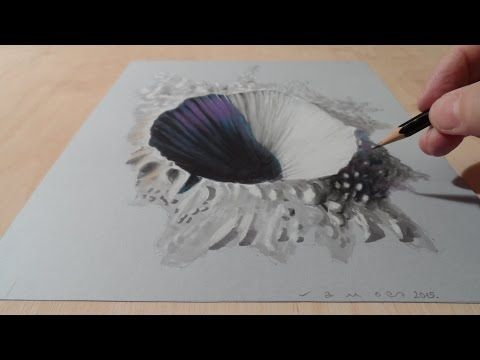 Drawing A Hole Anamorphic Illusion Trompe L Oeil Youtube Art