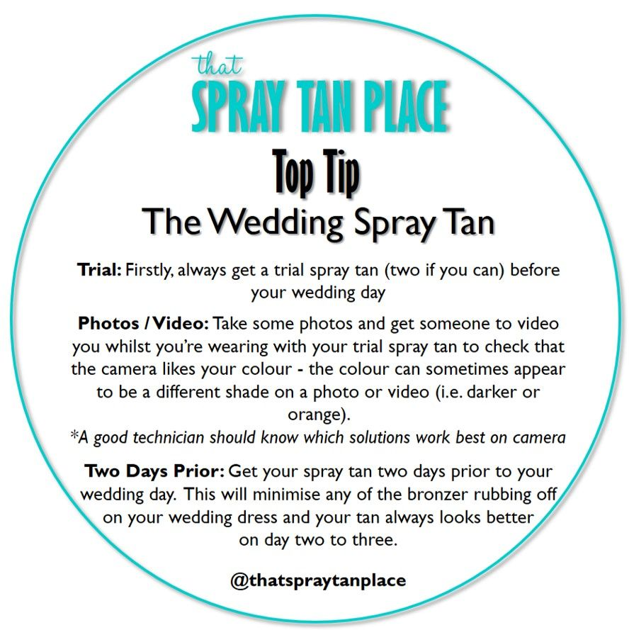 Ensure You Have The Best Spray Tan For Your Wedding Day Don T