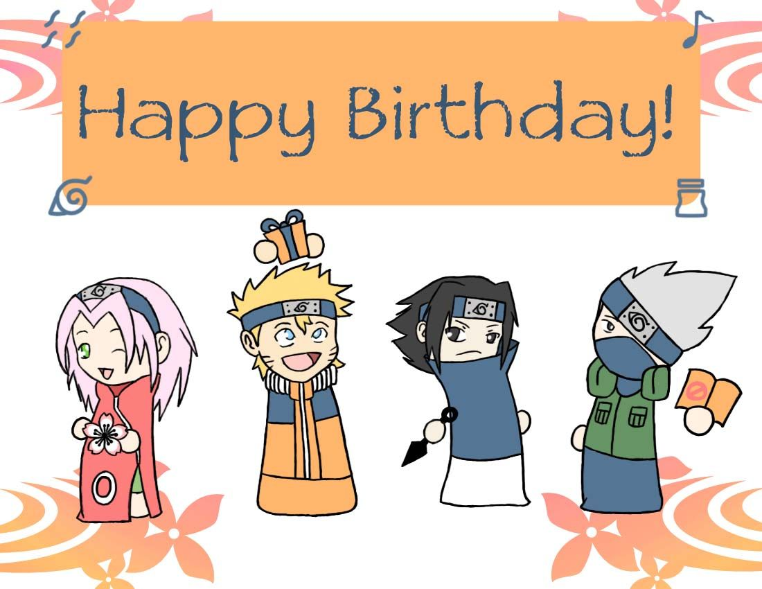 Happy Birthday Naruto Style