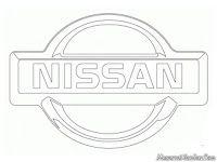 Kids Coloring Nissan Car Logo Warna Mobil Gambar