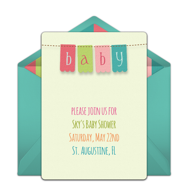 Free baby banner invitations baby banners banners and baby shower customizable free baby banner online invitations easy to personalize and send for a party filmwisefo