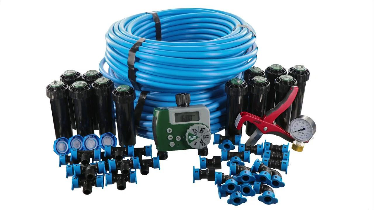 How to install the 2 zone inground sprinkler system