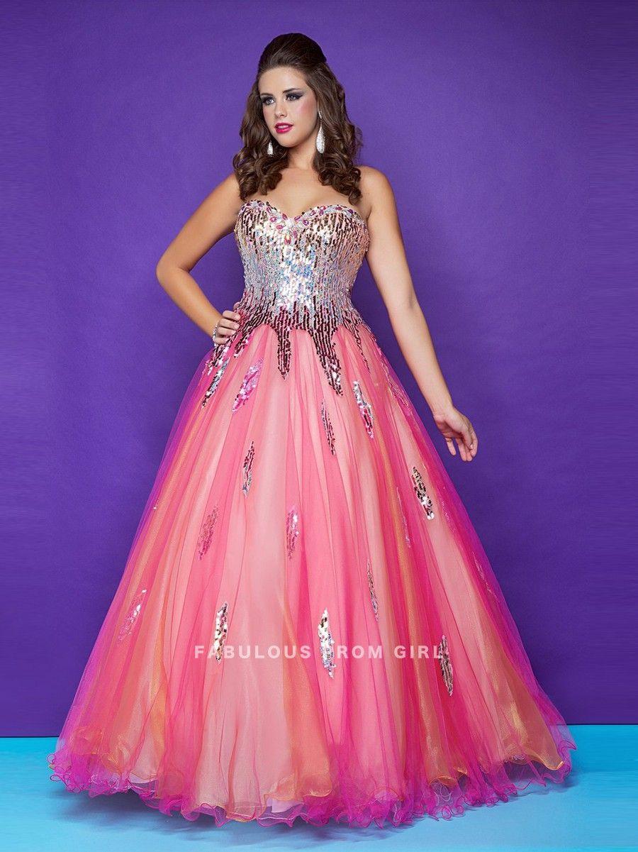 Ball Gown Sweetheart Beading Sleeveless Floor-length Tulle Prom ...