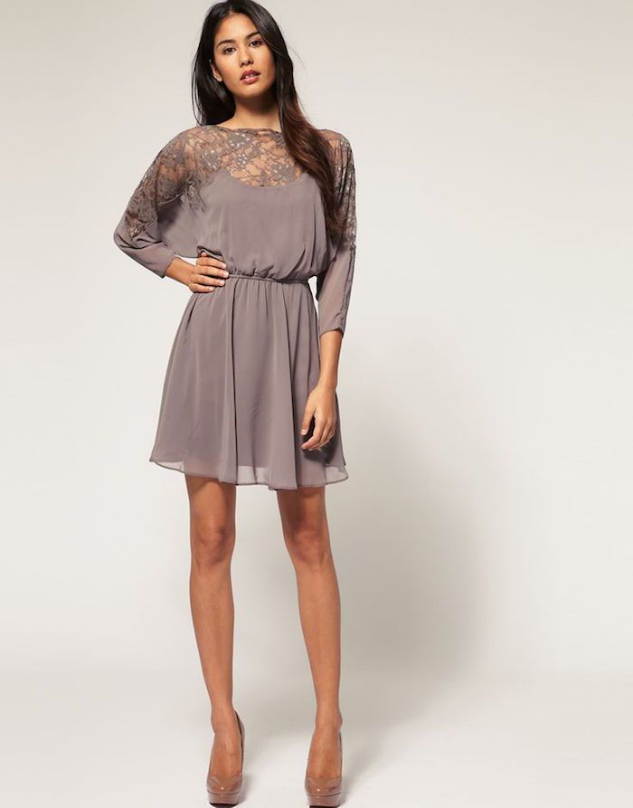 Fall wedding guest dresses to impress bats wedding for Gray dresses for a wedding