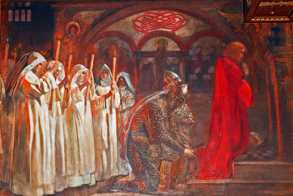Edwin Austin Abbey, The Oath of Knighthood.