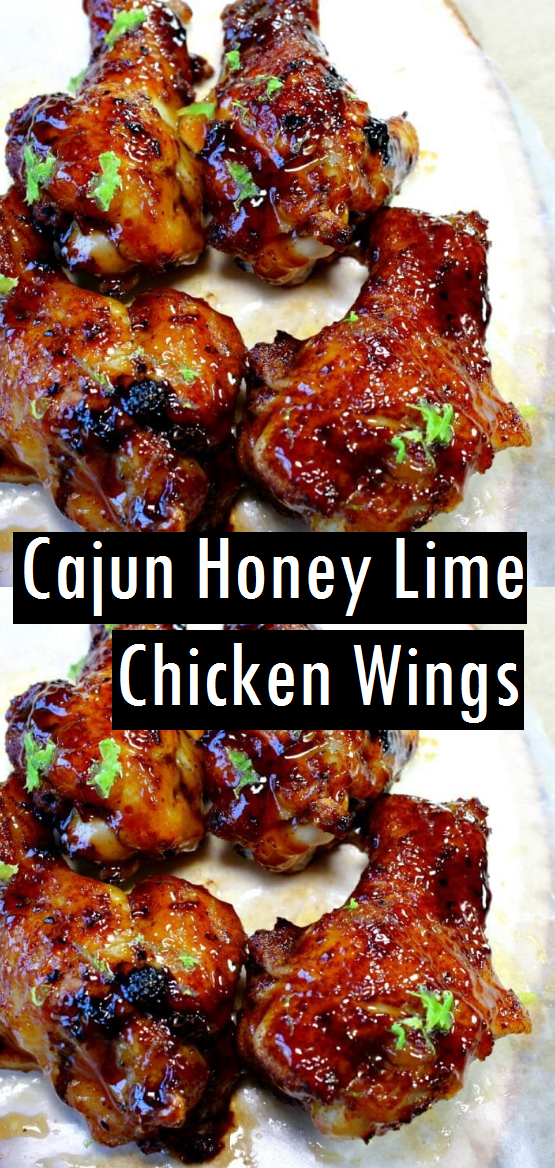 Cajun Honey Lime Chicken Wings - Dessert & Cake Recipes #honeylimechicken