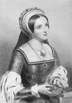 "Photo of Catherine Parr also spelled Katherine, 1512-1548. English Queen. Sixth wife of England's Henry VIII.Engraved by W.H.Mote after J.W.Wright.From the book """"The Queens of England, Volume II"""" by Sydney Wilmot. Published London circa. 1890. Stock Photo 1899-41453"