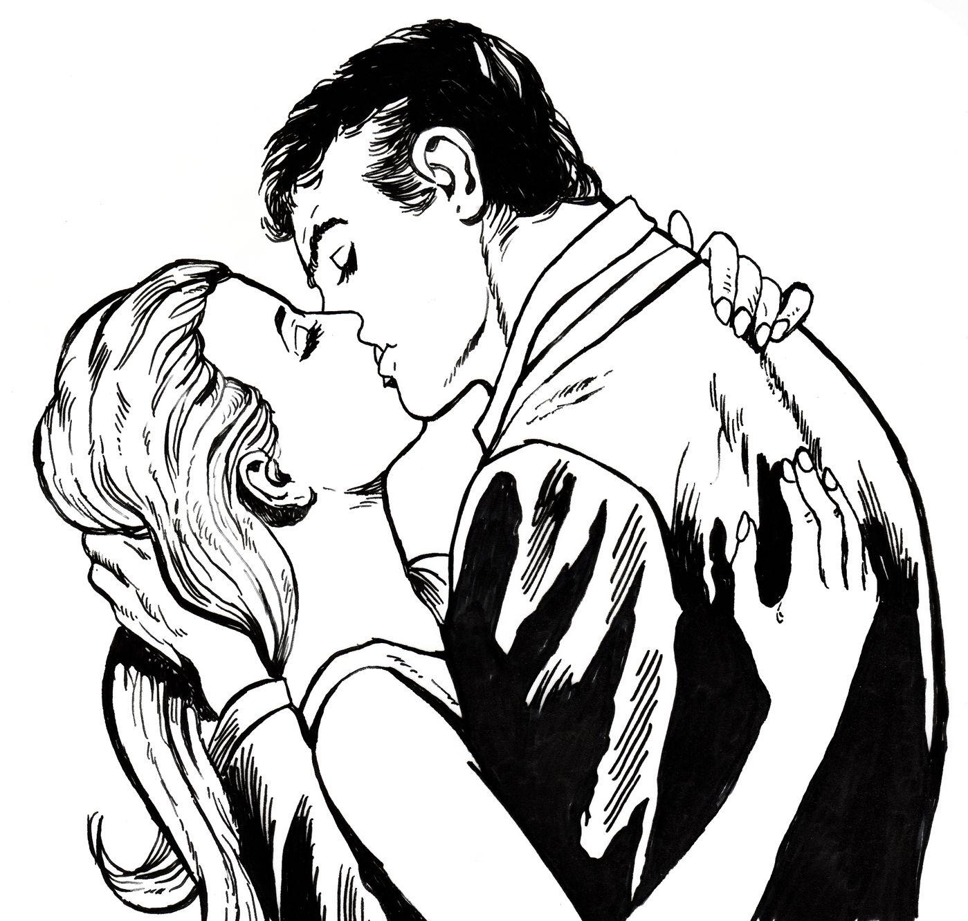 Dos Enamorados Besandose Ref 192 Galeri
