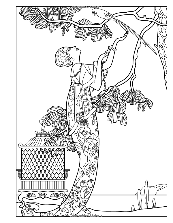 Adult Coloring Book Vintage Series The Masters Of Fashion Illustration 9780692708354 Wendy