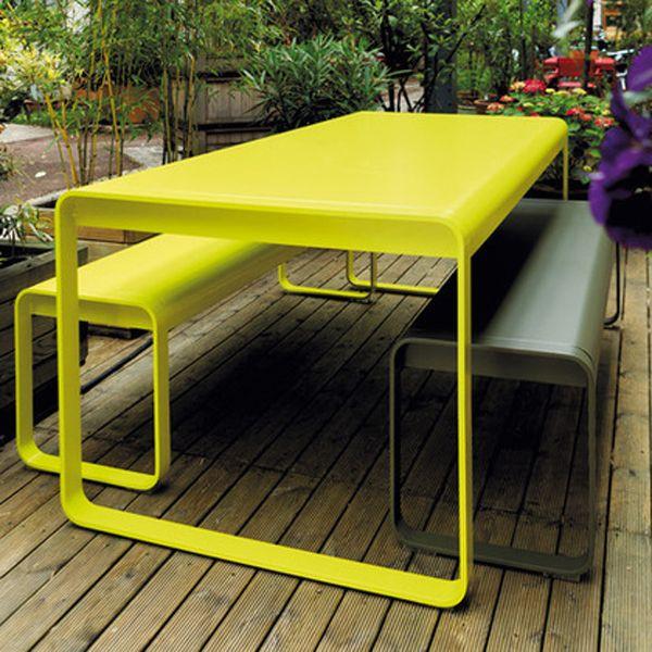 Fermob BELLEVIE Gartenmöbel Komplettset Bank+Tisch | Garten