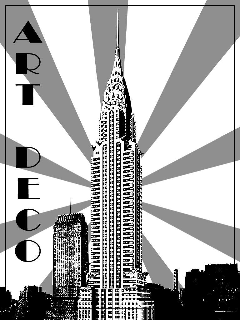 Art Deco New York Building Art Art Deco Illustration Art Deco