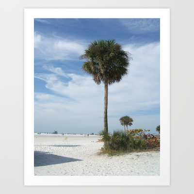Lonely Palm Art Print by Rosie Brown - $17.68