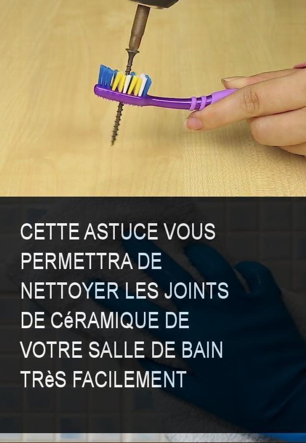 Cette astuce vous permettra de nettoyer les joints de c ramique de votre salle de bain tr s - Astuce pour nettoyer les joints de salle de bain ...