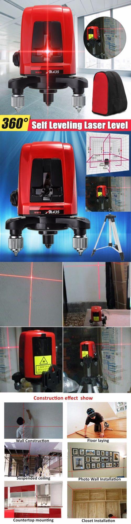 Laser Measuring Tools 126396 Ak435 360 Degree Self Leveling Cross Laser Level 2 Line 1 Point Package Bag Us Buy It N Laser Levels Measuring Tools Usa Bag