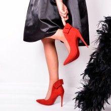 Szpilki W Szpic Kokardka Glamarama Czerwone Red Pumps Lady In Red Christian Louboutin Pumps Heels