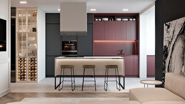 BORDO APARTMENT on Behance Kitchen in 2018 Pinterest Kitchen