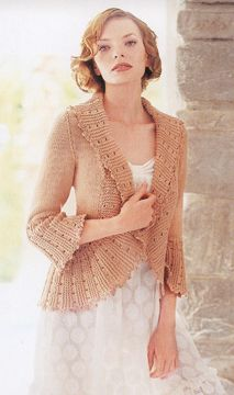 Knitting Pattern - White Lies Designs Bed Jacket